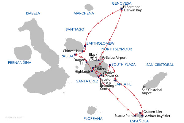 EAST - 8 Days Cruise