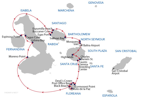 WEST - 8 Days Cruise